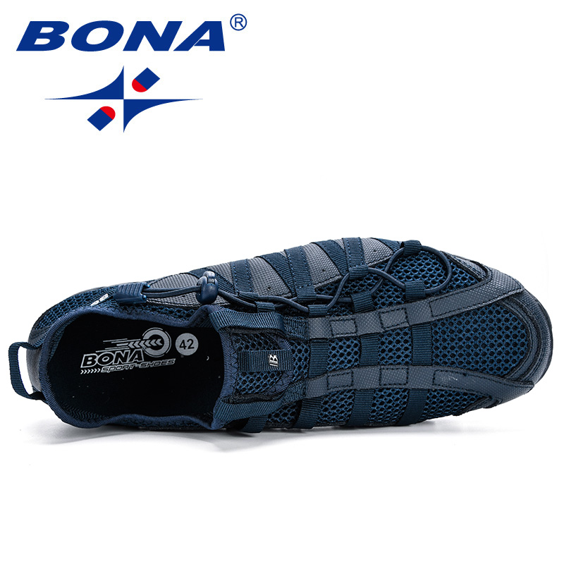 BONA 2019 New Popular Casual Shoes Men Lac-up Lightweight Comfortable Breathable Walking Sneakers Man Tenis Feminino Zapatos 5