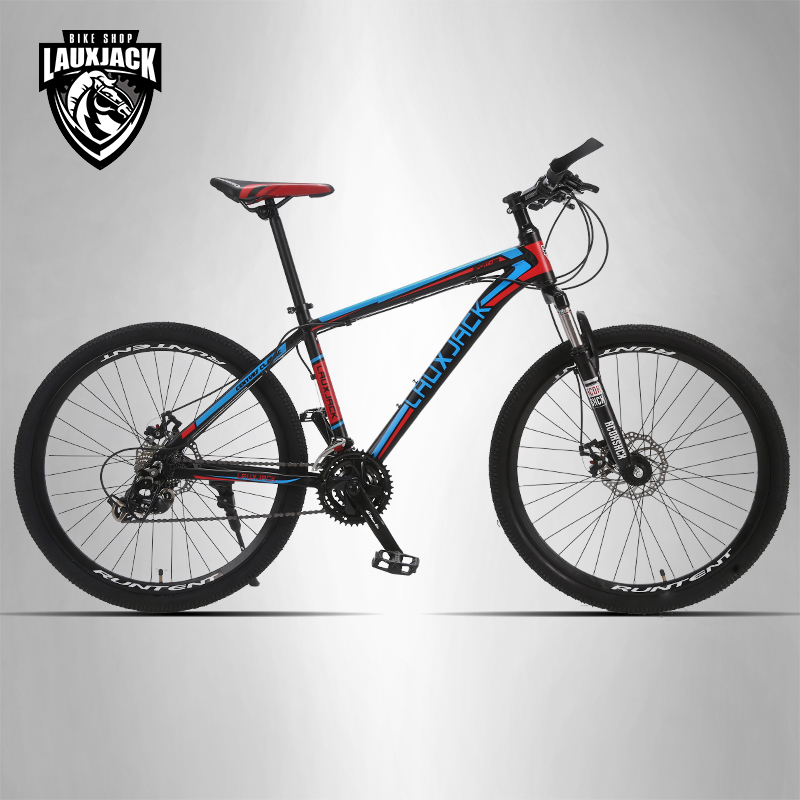 LAUXJACK Mountain Bike Aluminum Frame 24 Speed Shimano Mechanical Disc Brakes 26