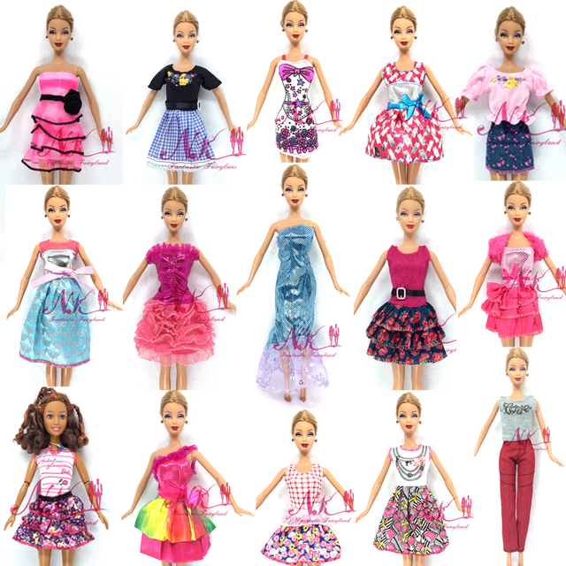 NK 2017 Newest Doll Outfit Beautiful Handmade Party ClothesTop Fashion Dress For Barbie Noble Doll Best Child Girls'Gift