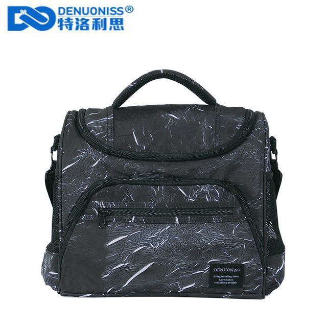 DENUONISS New Aluminum Foil Insulation Fashion Single Shoulder Thermos Bag Refrigerated Ice Pack Cooler Bag Sac Isotherme