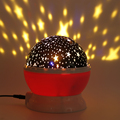 Creative Rotating LED Bulb Starry Sky Projector Night Light Color Changing Star Moon Sky Cosmos Atmosphere Lamp For Baby Bedroom