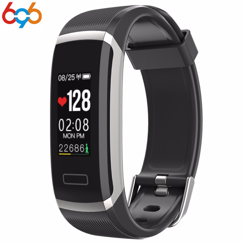 696 GT101 Fitness Tracker Watch TFT Color Screen Smart Wristband Smart Bracelet Fitness Tracker OLED Screen Heart Rate Monitor C