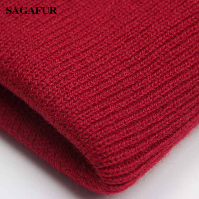 Solid Beanie Wool Blends Soft Warm Knitted Cap 5