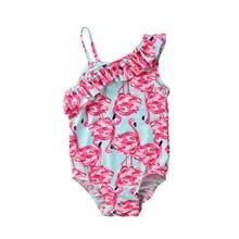 Toddler Kids Baby Girls Bikini Swimwear Swimsuit Bathing Beach Costume Shoulder Children Beachwear Bathing Suit Bikinis Set цена