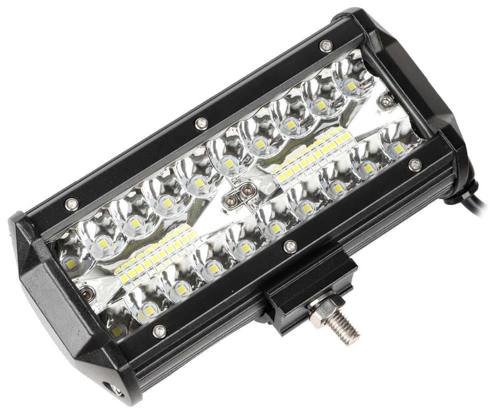 7 дюймовый светодиодный стручки комбинированный прожектор луч 120 Вт Тройной Ряд осветительная балка для внедорожных условий вождения светодиодный Подсветка для UTV ATV Jeep Грузовик Лодка
