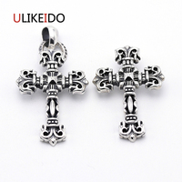 100 Pure 925 Sterling Silver Pendant Fashion Cross Charms Chain Jewelry Necklace New Popular Gift