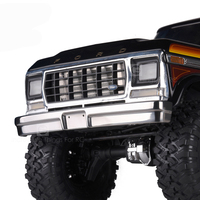 1PC TRX4 Ford Stainless Steel Front/Rear Bumper Metal Anti collision Bar for T4 Bronco RC Cars Modification Parts
