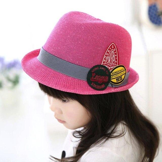 Fashion Baby Girls Boys Straw Wide Brim Sun Hat Cool Kids Summer Western  Cowboy Hat Children 717a72fa886a