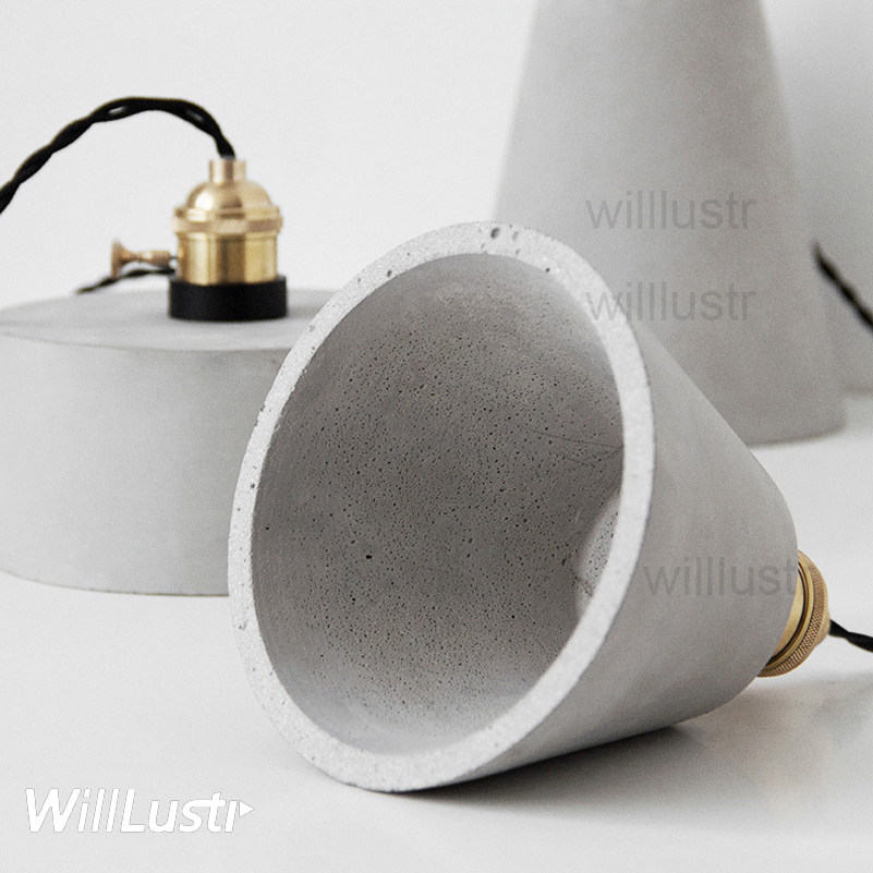 willlustr concrete pendant light cement suspension lamp minimalist design nordic hanging lighting dinning room restaurant hotel купить