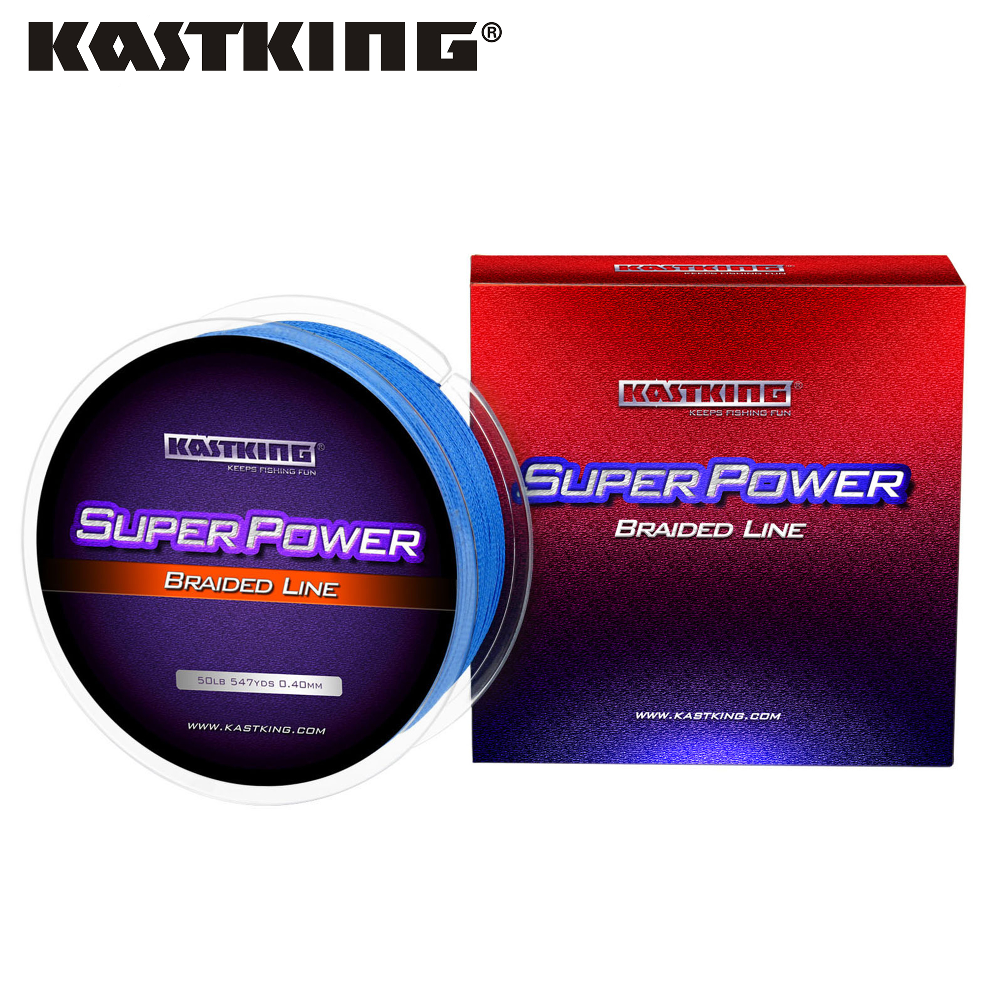 KastKing SuperPower Braided Fishing Line 4 Strand PE 300M 500M 1000M 10-80LB 4.6-36.4KG for Carp Bass Fishing Multifilament Line image