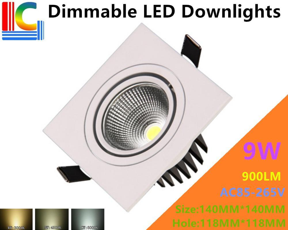 Затемнения 9 Вт прямоугольный Светильники потолочные светодиодные 85-265 В встраиваемые потолочный светильник CE RoHS ультра-яркий домашний инт...