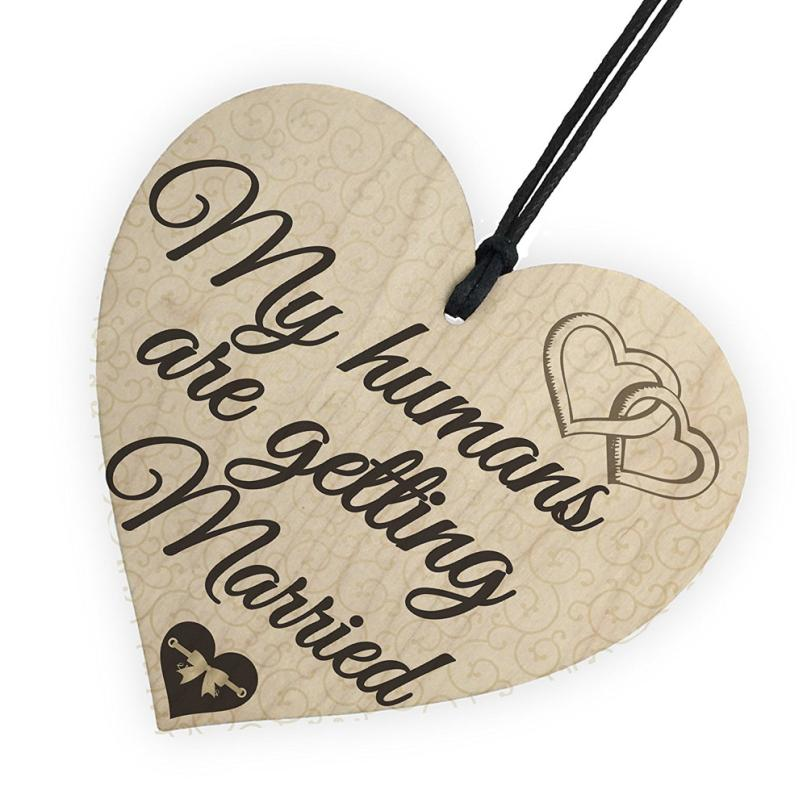 Wooden Hanging Gift Plaque Pendant Family Friendship Love Sign Wine Champagne Tags Decor 10 x 10 cm Wedding Decoration supplies