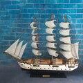 Año Nuevo Año nuevo 50 cm barco de madera modelo 2015 Miniatur madera Marina azul barco velero de madera decoración náutica artesanías casa