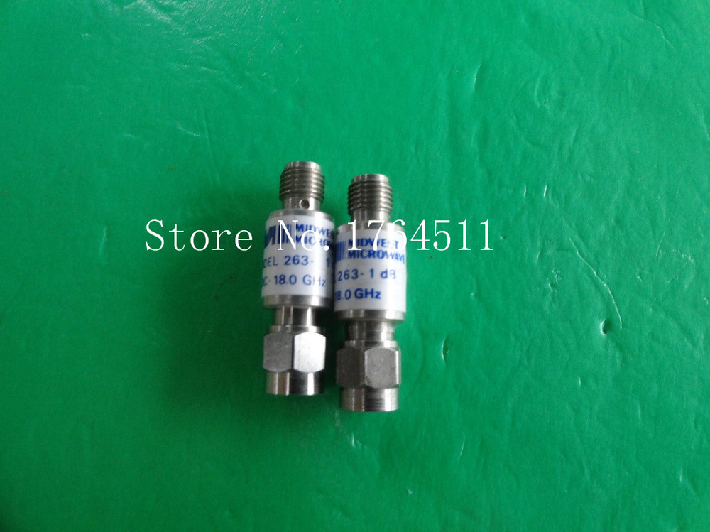 [BELLA] MIDWEST 263-1dB DC-18GHz 3dB 2W SMA Coaxial Fixed Attenuator  --2PCS/LOT