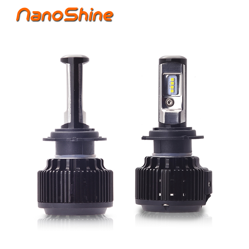 Nanoshine 2 PCS Car LED Headlight Bulbs H7 H4 H1 H3 H11/H8/H9 HB3/9005 HB4/9006 880 9012 H13 6000lm All- In- One Automobile Lamp h1 h4 h7 h8 h9 h11 9005 9006 hb3 hb4 9012 hir2 car led headlight bulbs to replace automobile halogen headlamp fog conversion kit