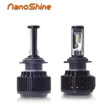 Nanoshine 2 PCS Car LED Headlight Bulbs H7 H4 H1 H3 H11/H8/H9 HB3/9005 HB4/9006 880 9012 H13 6000lm All- In- One Automobile Lamp