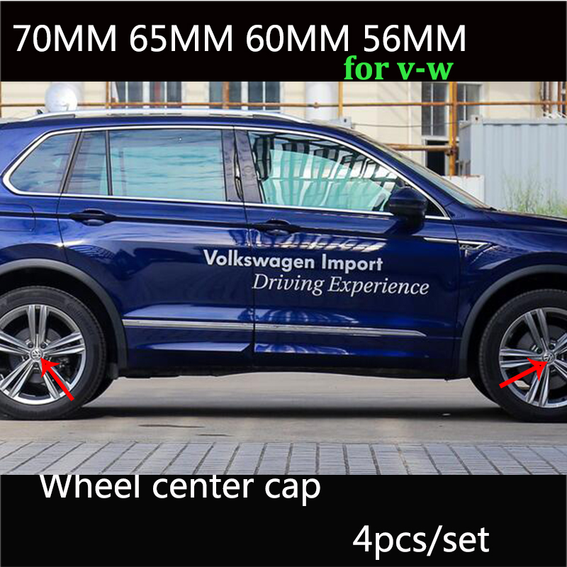 4 stücke schwarz blau 56mm 60mm 65mm 70mm auto rad mitte kappe für Volkswage Passat B6 b7 CC Golf Jetta MK5 MK6 Tiguan