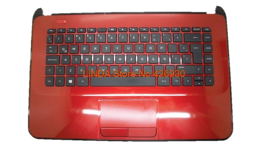 Laptop PalmRest&keyboard For HP 14-D000 red C shell with black LA/UK/US keyboard 1A32FTT00600G 1A32FTY00600G russian new laptop keyboard for samsung 530u 530u4b 535u4b 530u4c 535u4c with c shell ru korean us tailand isreal uk la version