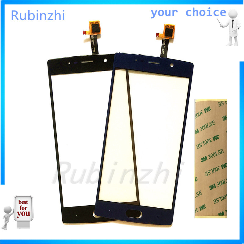 RUBINZHI Mobile Phone Touch Replacement Panel For Doogee BL7000 Touch Screen Sensor Front Glass Repair Parts with Tape