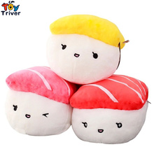 Plush Japan Rice Sushi Salmon Tuna Toy Stuffed Doll Office Nap Pillow Home Shop Decoration Girlfriend Kids Birthday Gift Triver