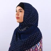 2019 Fashion Exquisite Woman hijab Rhinestone Chiffon Popular Shawls Scarf Headband Muslim Hijab Turban 15 Colors Free Shipping