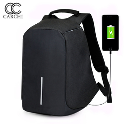 Carchi canvas men s anti theft backpack bag usb charge 15 inch laptop notebook backpack for.jpg 250x250