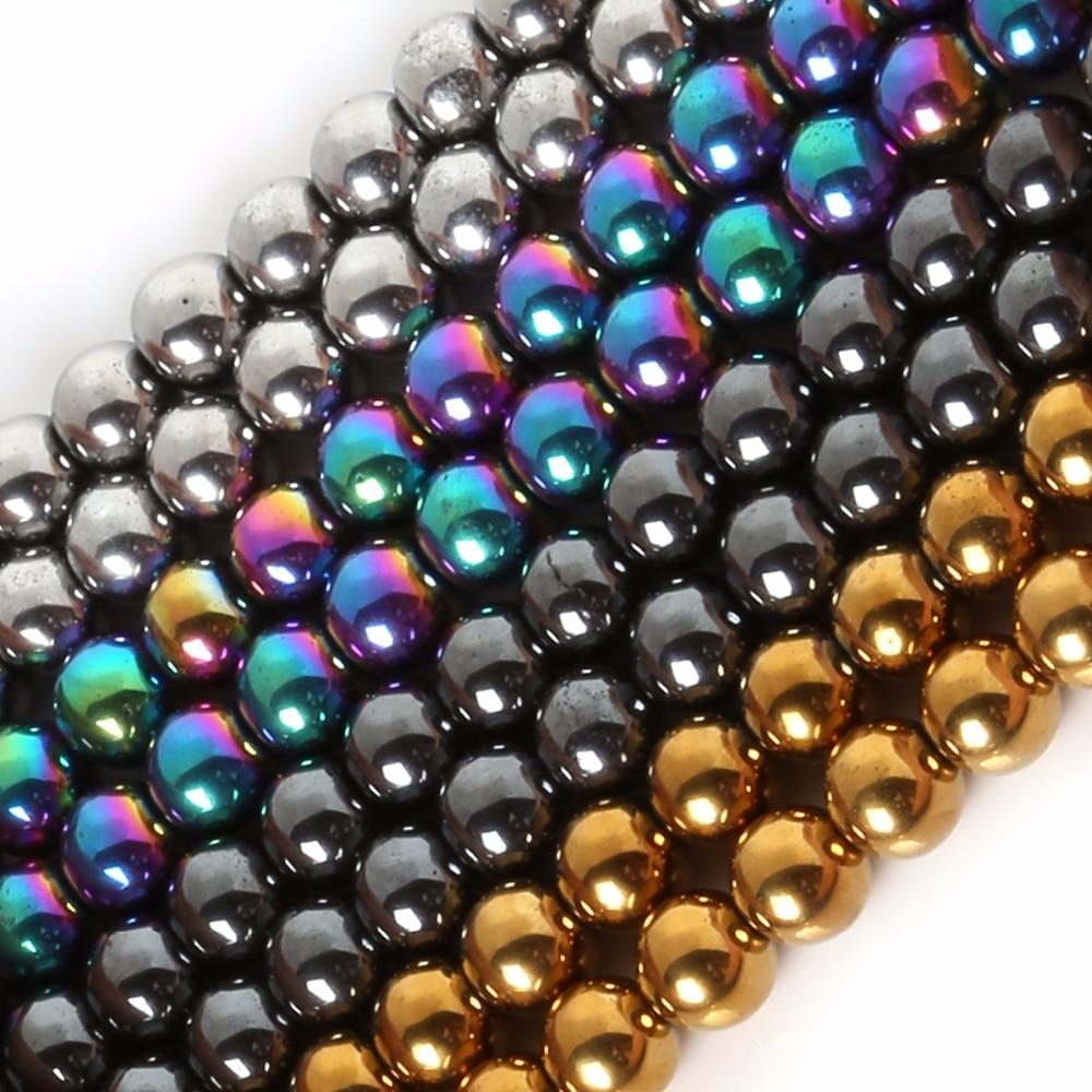 Aliexpress.com : Buy 7colors 12mm Natural Stone Hematite ...  |Hematite Beads