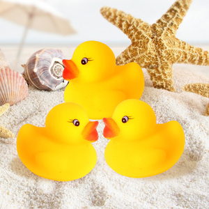 60 шт/120 шт Мини желтые резиновые утки детская игрушка для ванны душ водные игрушки чистый натуральный милый резиновый утки для ребенка игруш...