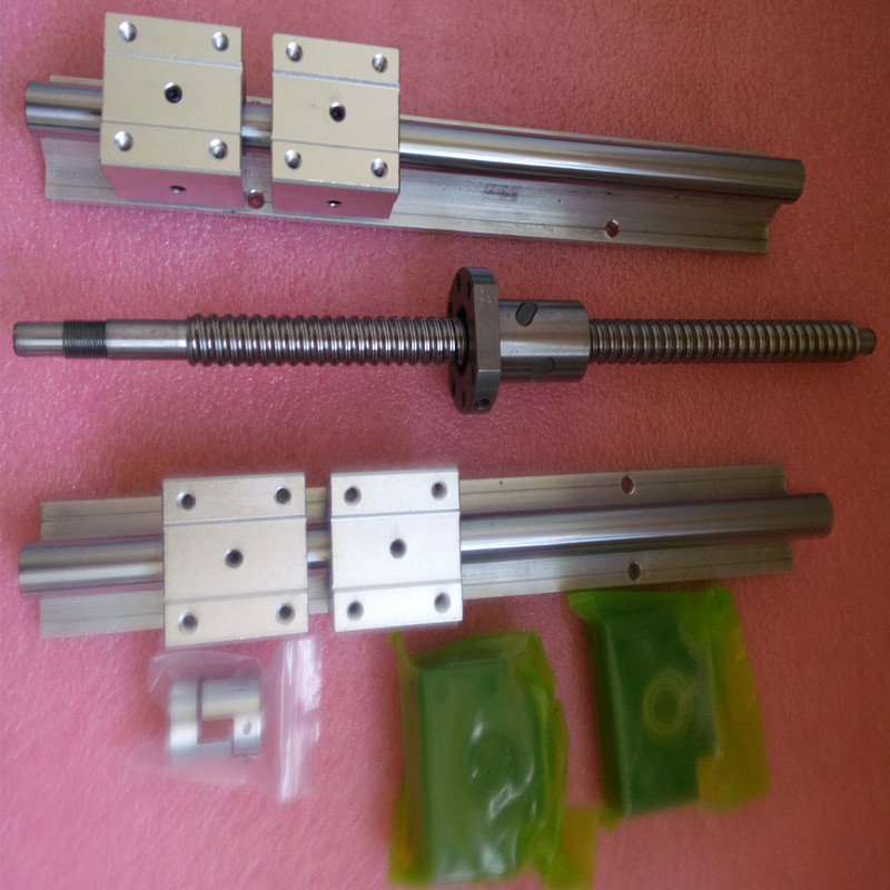 ФОТО 2 SBR16 linear rails 1300mm+1 ball screws SFU1605- 1250mm+1BKBF12+1ballnut housing+1coupling 6.35-10