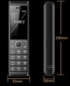 Image 3 - حقيقي 8700mAh قوة البنك سوبر كبير الهاتف المحمول الفاخرة الرجعية الهاتف بصوت عال المزدوج سيم الاستعداد هاتف محمول y H موبايل D9000