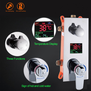"""Image 2 - Bathroom Shower Set 3 Functions Thermostatic LED Digital Display Shower Mixer Concealed Shower Faucet 10"""" Rainfall Shower Head"""