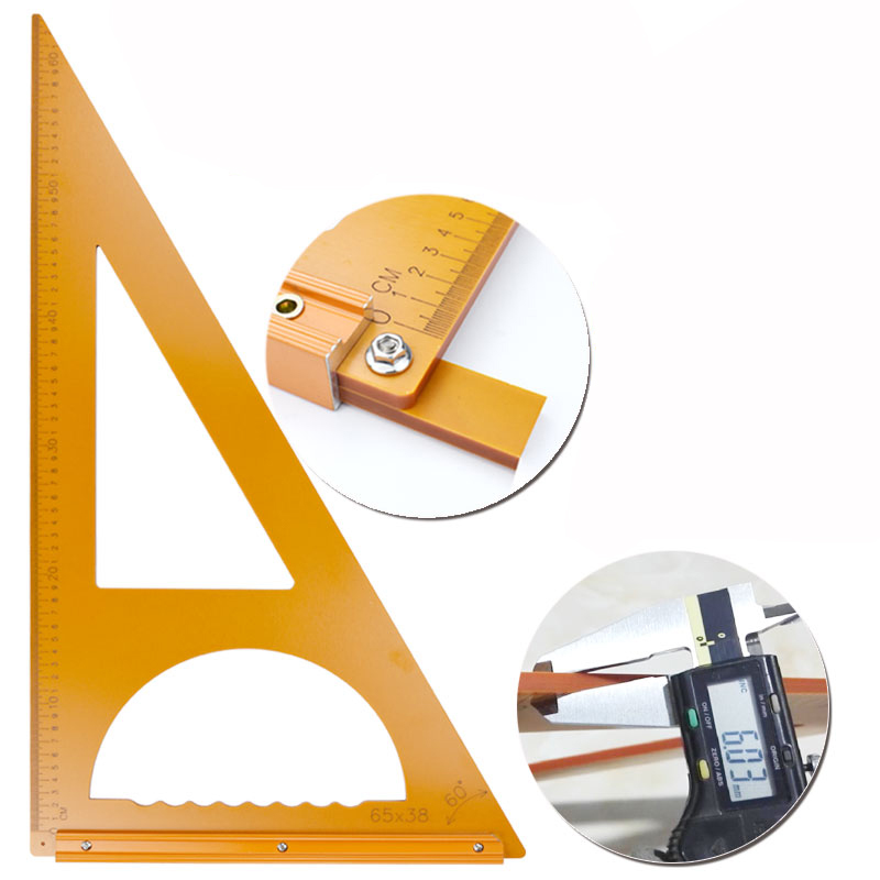 Woodworking Triangle Ruler Squares 90 Degrees Protractor Saw Table Triangle Ruler Measuring Tool Cutting Machine Guide Ruler