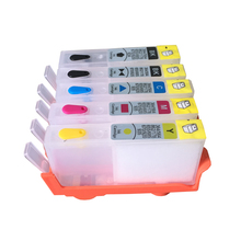 ФОТО 5pcs for hp 178 178xl refillable ink cartridge c, m, y, k for hp photosmart c6380/c6300/c5300/c5383/c5380/c6383/d5460/d5400