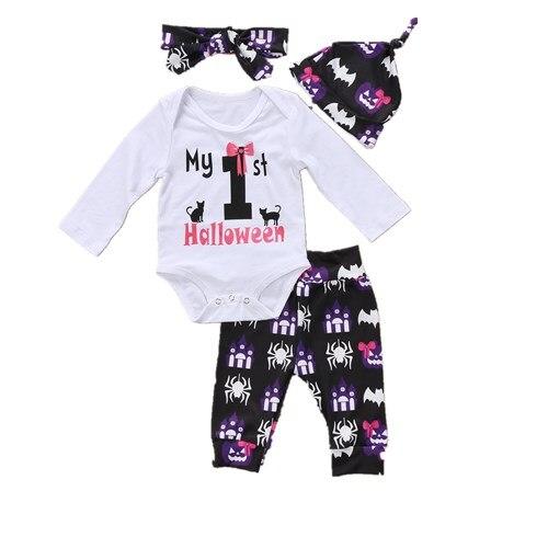 Newborn Kids Infant Baby Girls Clothes Jumpsuit Bodysuit+Pants Long Sleeve Infant Product Outfit Set