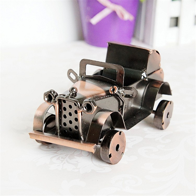Retro Aesthetic Car Model Collections Simulation Classic Alloy Toy For Boy Children Home Bookshelf Decoration