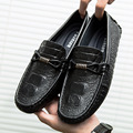 men's casual shoes genuine leather loafers shoes slip on brand designer business shoes flats boat driving shoes calzado L110702