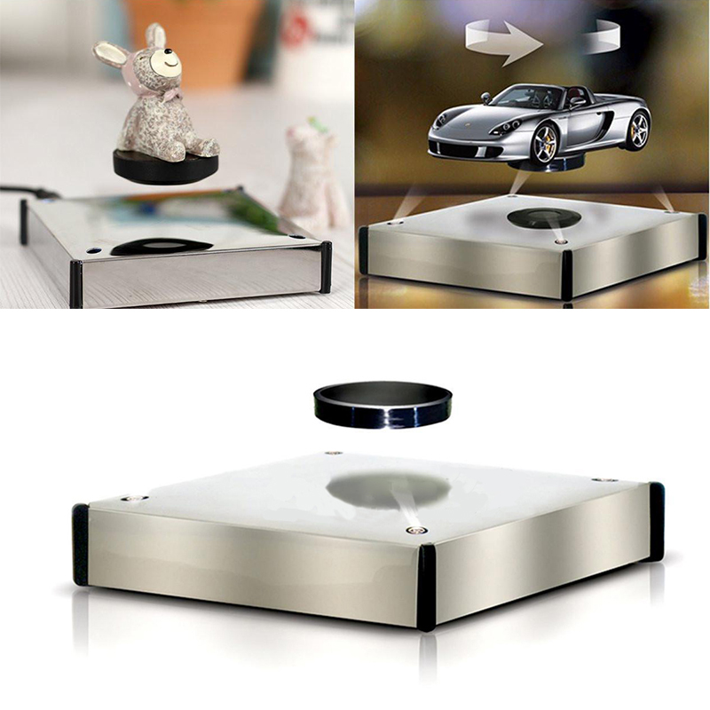 Rotating Magnetic Levitron Floating Show Shelf Holder Display Plateform Magnetic Product Jewelry Display Base Magnetic Holder pro jewelry floating mini charms for floating locket