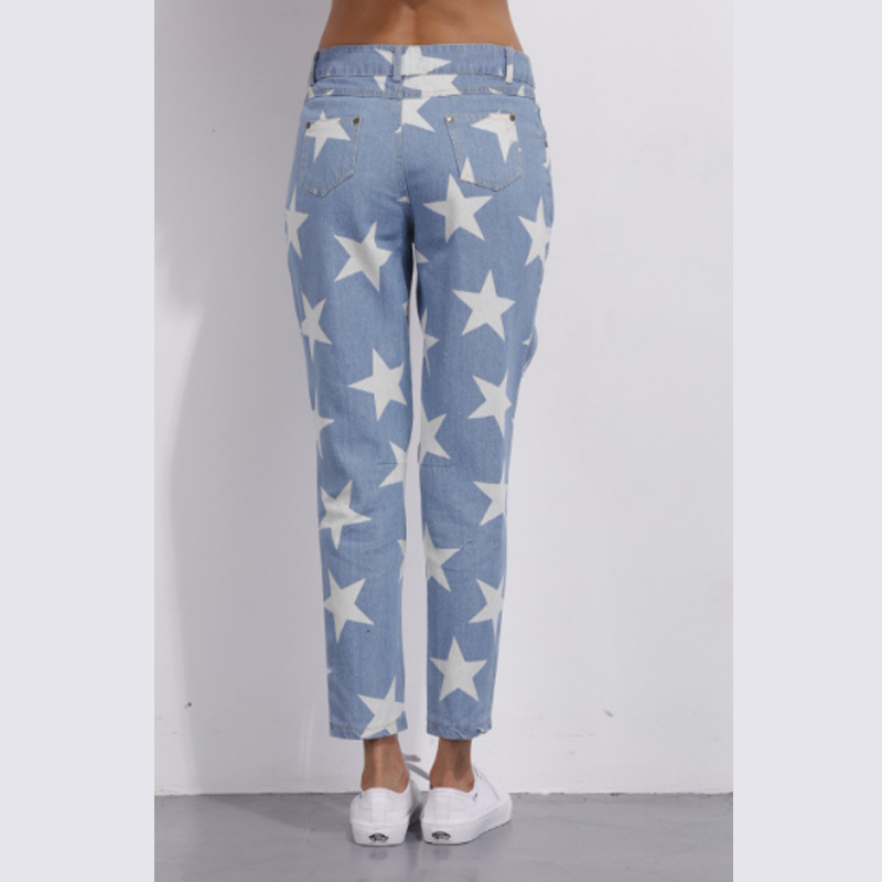 1355b21375 Fashion Nova Jeans For Women Holes In Jeans Loose Star Extreme Cut Out  Jeans star print Straight Big Hole Boyfriend Jeans Baggy-in Jeans from  Women s ...