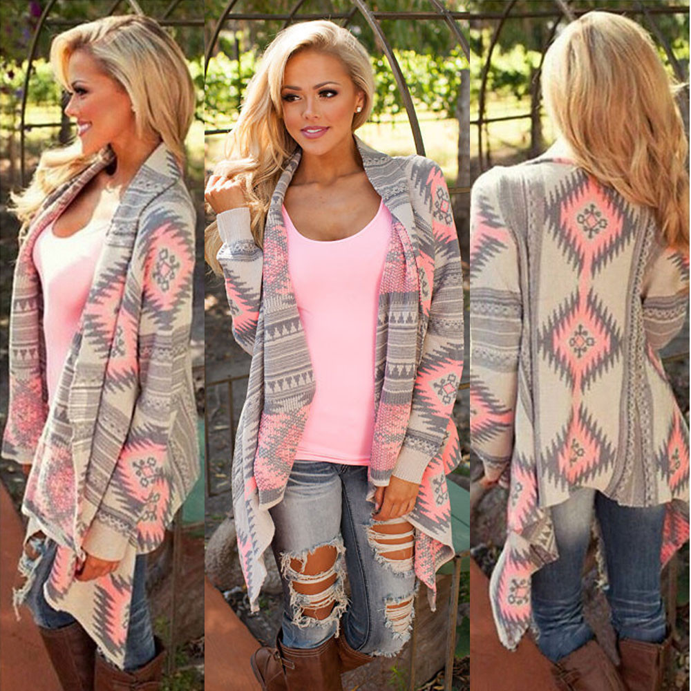 Hot Sale Kimono Cardigan Stylish Women blusas Geometric Printed ...