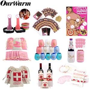 OurWarm девичник для невесты, вечерние подарки для подружки невесты, надпись «Tribe», вечерние сумочки, вечерние реквизиты для игры, Забавный свад...