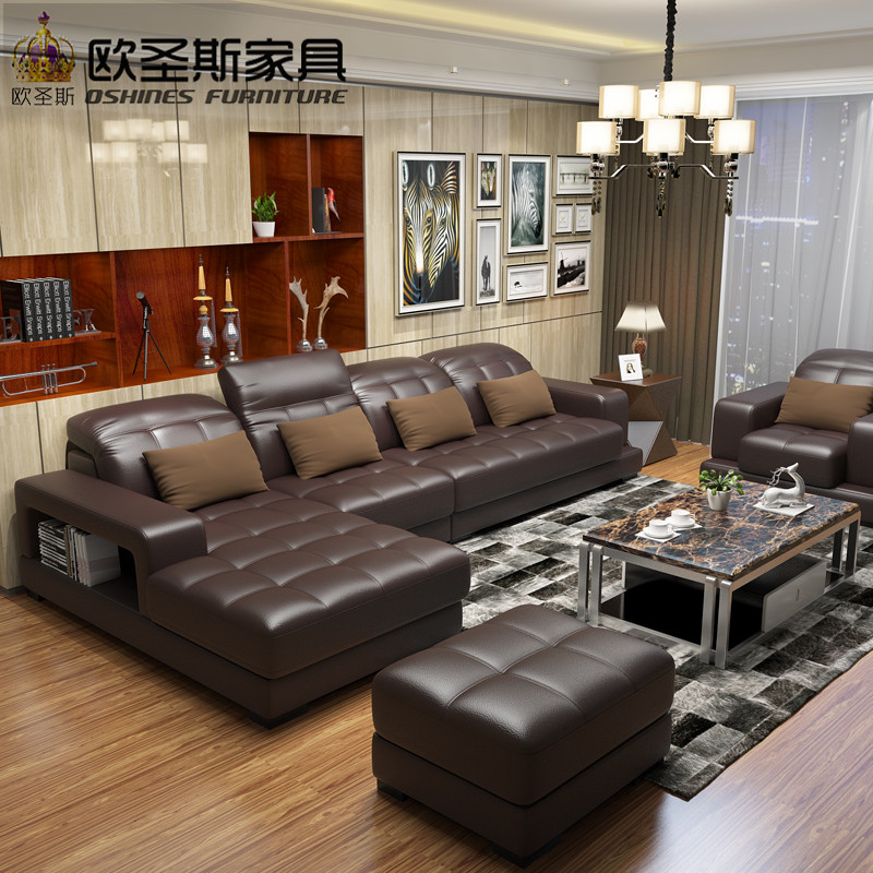 esf with sofa overnice michigan leather flint real style in sectional modern upholstered