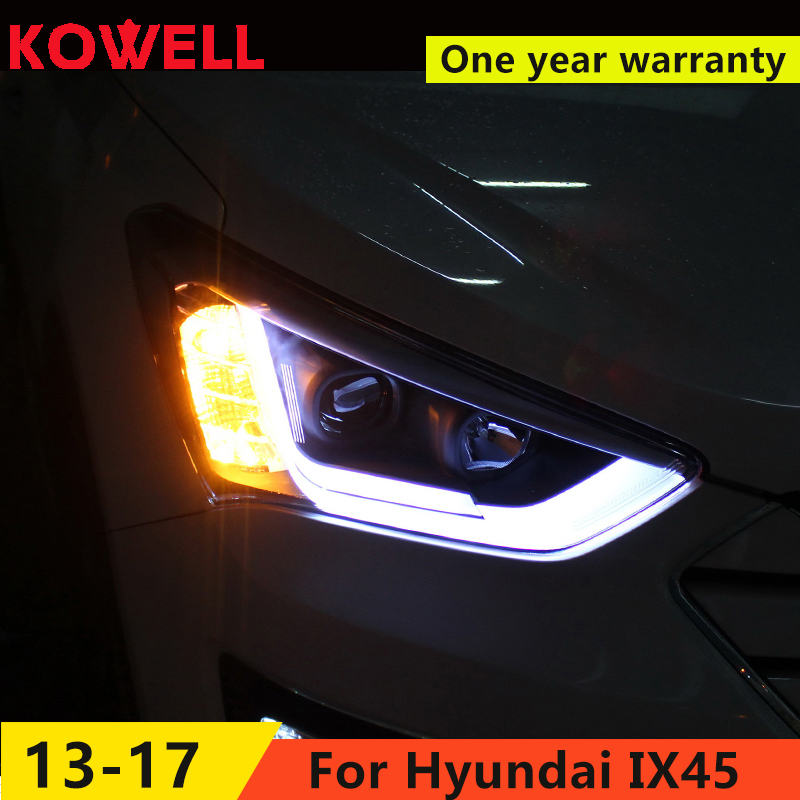 FOR one Car Styling for Hyundai IX45 LED Headlight New SantaFe Headlight DRL Lens Double Beam
