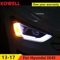 FOR one Car Styling for Hyundai IX45 LED Headlight New SantaFe Headlight DRL Lens Double Beam H7 HID Xenon bi xenon lens