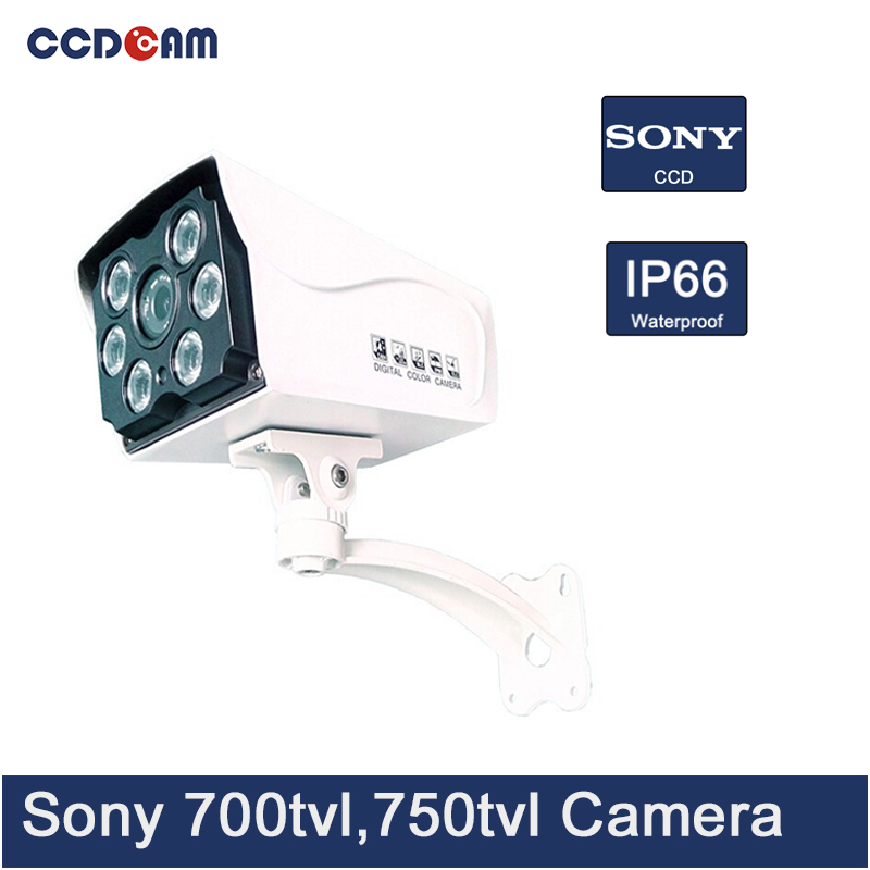 CCDCAM 6pcs Array light 700 TVL,750 TVL,800 TVL Sony CCD sensor waterproof camera for CCTV system купить