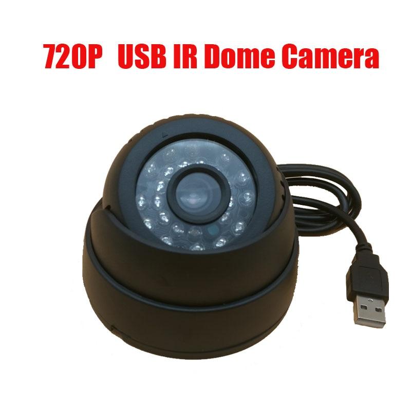 720P IR 15m Night Use USB Eyeball Dome Camera w/Motion Detection Record for Home CCTV Video Security DVR Camera& TF Card Slot