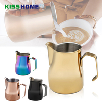 Multicolor Milk Frothing Jug Espresso Coffee Pitcher Barista Craft Latte Cafe Stainless Steel Professional Competition Milk Jugs