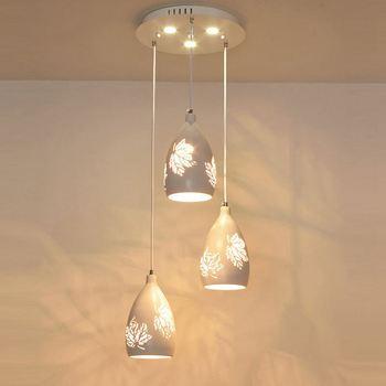 Современный выдалбливают кленовый лист Ресторан светодиодный подвесные светильники столовая белый подвесной светильник барная стойка по...