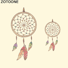 ZOTOONE Retro Style Iron On Transfer Dreamcatcher Patches For Girls Clothing Stickers Feathers DIY Heat Press Appliqued Decor D