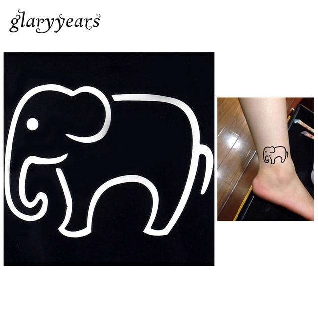 1 Pc Belle Elephant De Bande Dessinee Modele Etanche Tatouage