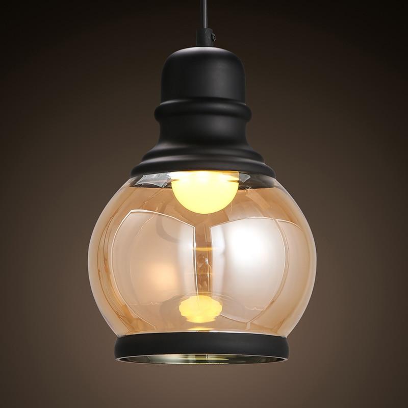 Krajem ameryki proste pojedyncze głowy różowe złoto żyrandol ze szkła bar żelaza ganek restauracja odzież żyrandol w Wiszące lampki od Lampy i oświetlenie na Ms zhou store